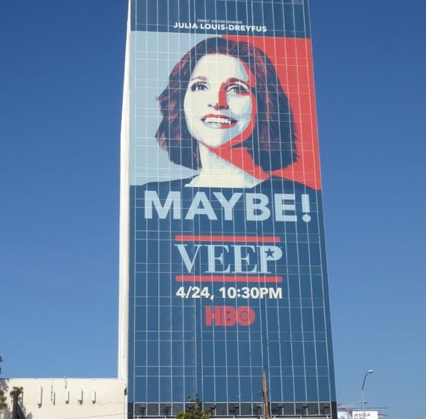 Julia Louise Dreyfus in Veep promotion