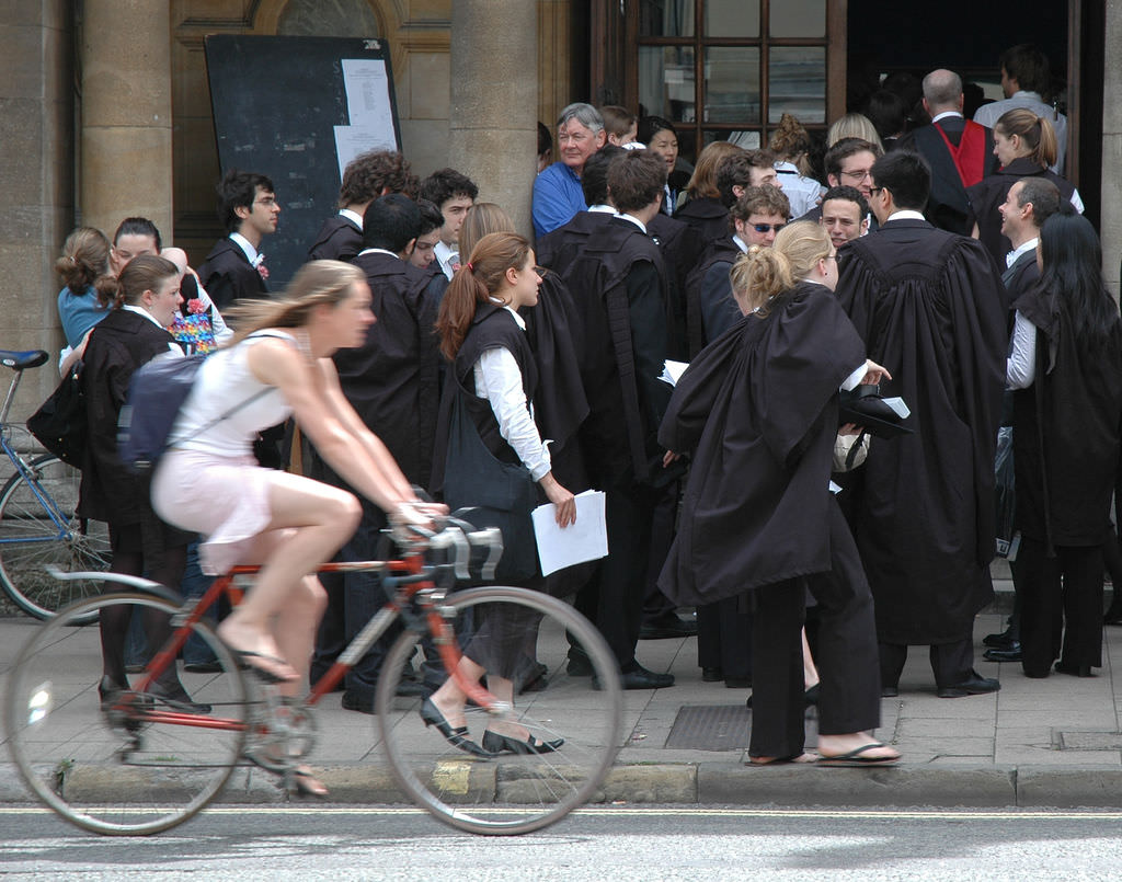 Students in academic robes